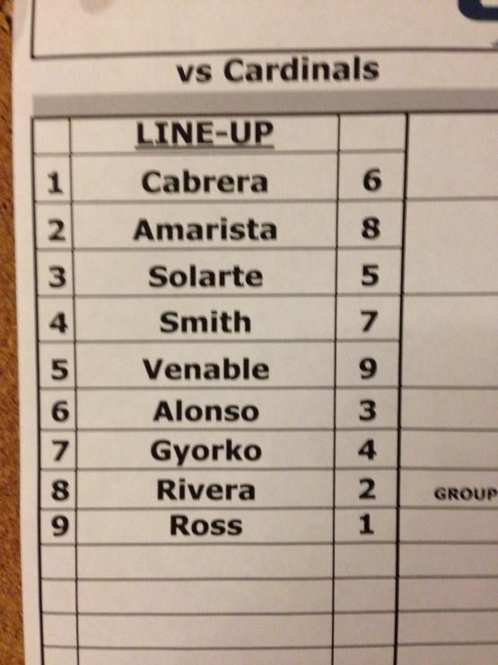 7-29 lineup